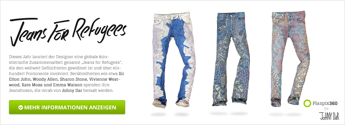 Jeans for Refugees - Plaspix360 für Johny Dar